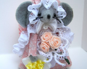 Birthday  Mouse Anniversary Collectible felt mice for the animal lover collector