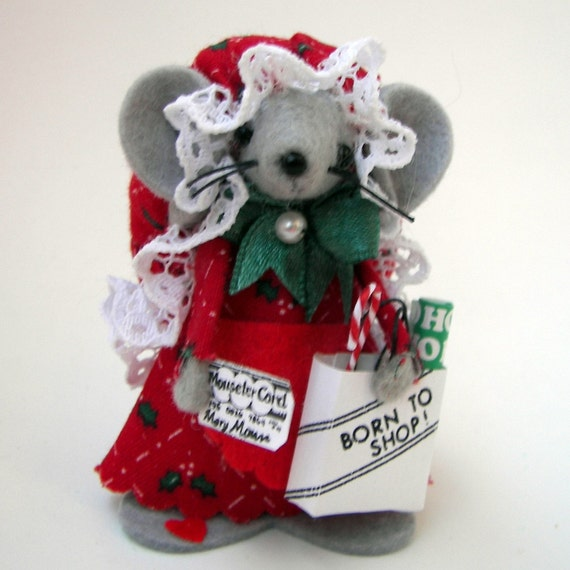 Christmas Ornament Shopping Mouse Cute Felt Mice Gift For