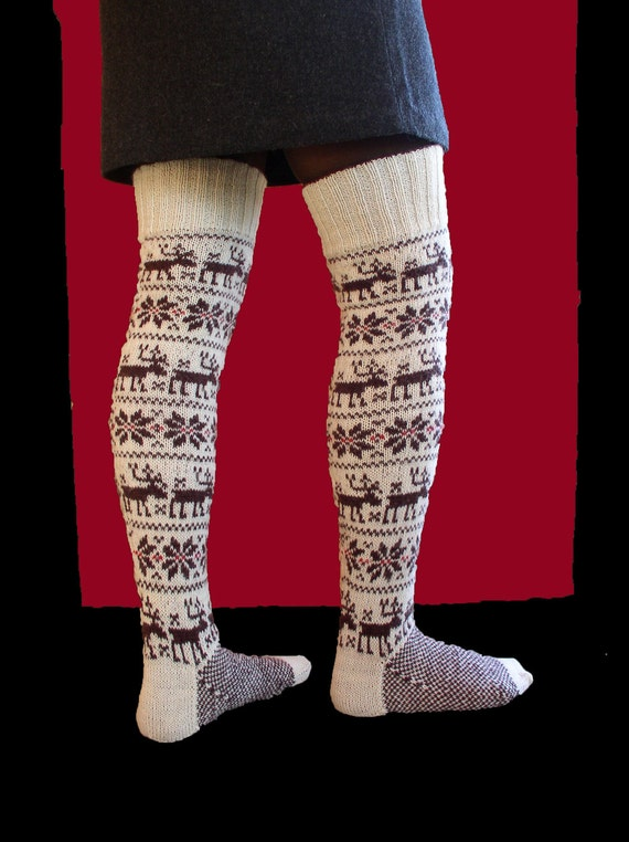 Hand Knitted Nordic stockings