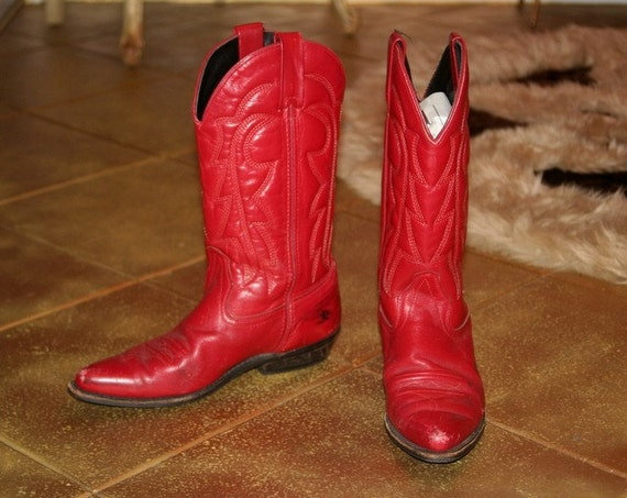 Luxury Womenu0026#39;s Roperu00ae Ostrich - Print Boots Red - 133947 Cowboy U0026 Western Boots At Sportsmanu0026#39;s Guide