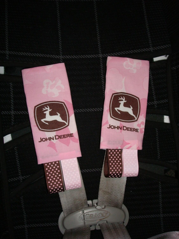 infant toddler car seat strap covers john deere pink. Black Bedroom Furniture Sets. Home Design Ideas