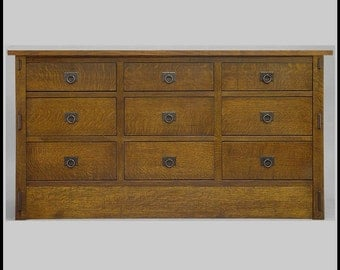 Arts and Crafts, Mission Bureau, Dresser, Quartersawn Oak
