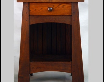 Arts & Crafts, ASH End Table or Night Stand,  Mackintosh Style