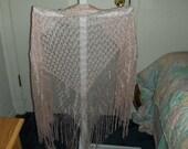 Pink shawl-- Vintage
