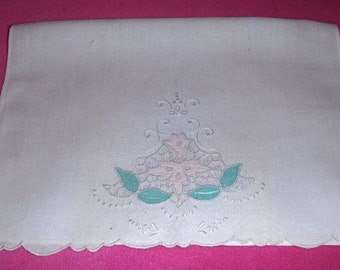 White Vintage Tea Towel