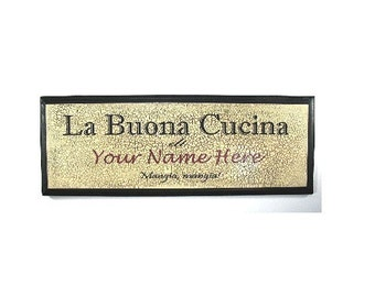 PERSONALIZED GOOD KITCHEN SIGN - ITALIAN