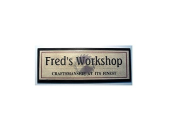 Personalized Workshop Sign- -Add name of your choice