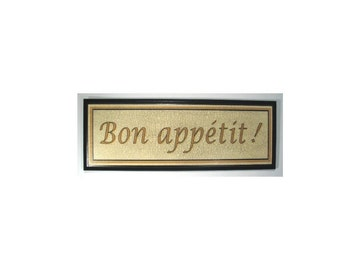 "French ""Bon Appetit"" Sign"