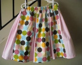 Custom Handmade Boutique Girls Clothing Pleated Skirt Dots Pink Blue size 2t 3t 4t 5t 6t