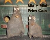 Primitive Mia and Mini Prim Cats Crows Roost Prims 357e epattern SALE immediate download