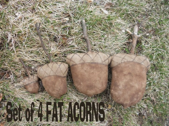 Acorns 347e Primitive 4 sizes summer fall autumn Fat  Crows Roost Prims epattern SALE immediate download