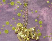 French Poodle Gold Necklace