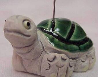 Ceramic Green Turtle Bead