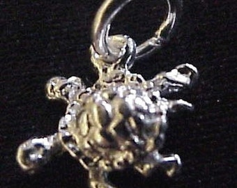 Turtle Sterling Silver Charm or Pendant