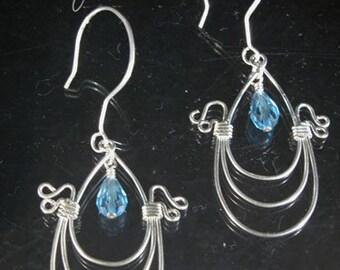 Sterling Silver triple hoop earrings