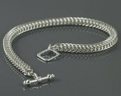 Half Persian 4in1 Sterling Silver Chain Maille Bracelet