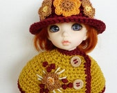 LittleFee Hat  and Cape  Autumn Gold