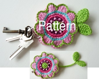 Pattern Key Cover Flower UK Terminology  (Instant Download)
