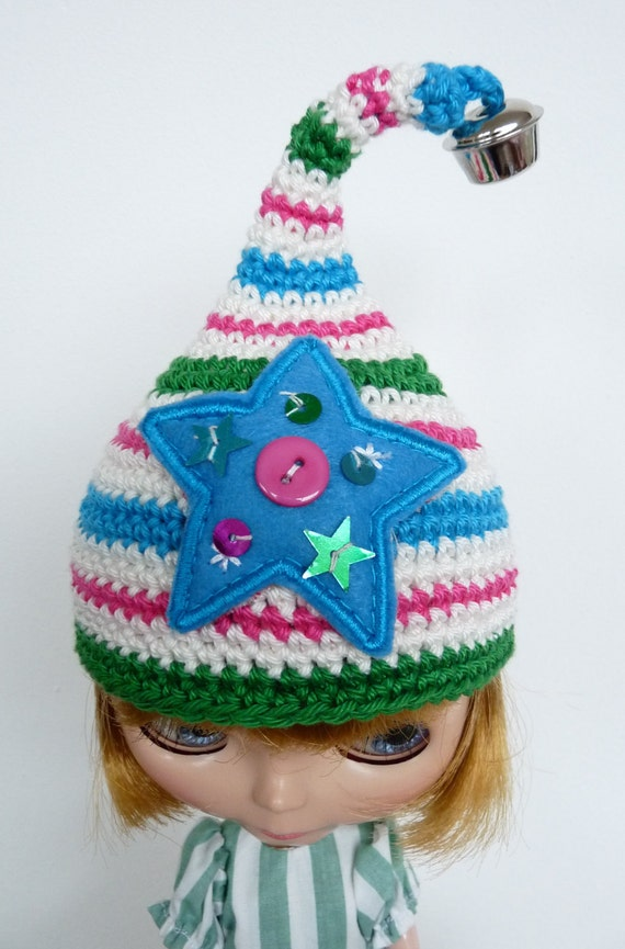 Blythe Hat Turquoise  Christmas Star