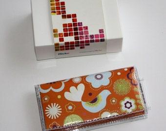 SALE Moo Card Quick Snap Card Holder - Bird Paradise