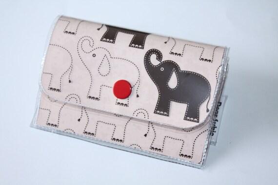 Accordion Wallet - Elephants
