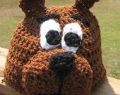Scooby Doo Crochet Beanie Skullcap Hat-cute photo prop or costume idea