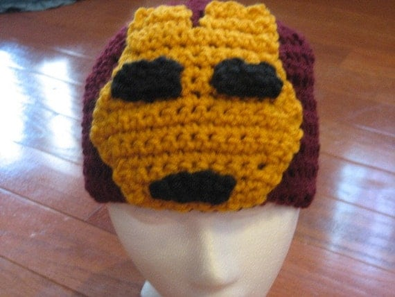Iron Man Beanie Skullcap Crochet Hat