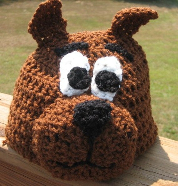 Scooby Doo Crochet Beanie Skullcap Hat-cute photo prop or costume idea