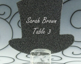 Top Guest Cards Escort Cards Place Cards Blank - Pack of 12 - Choose Your Color in Plain, Pearl Shimmer, and Glitter Paper