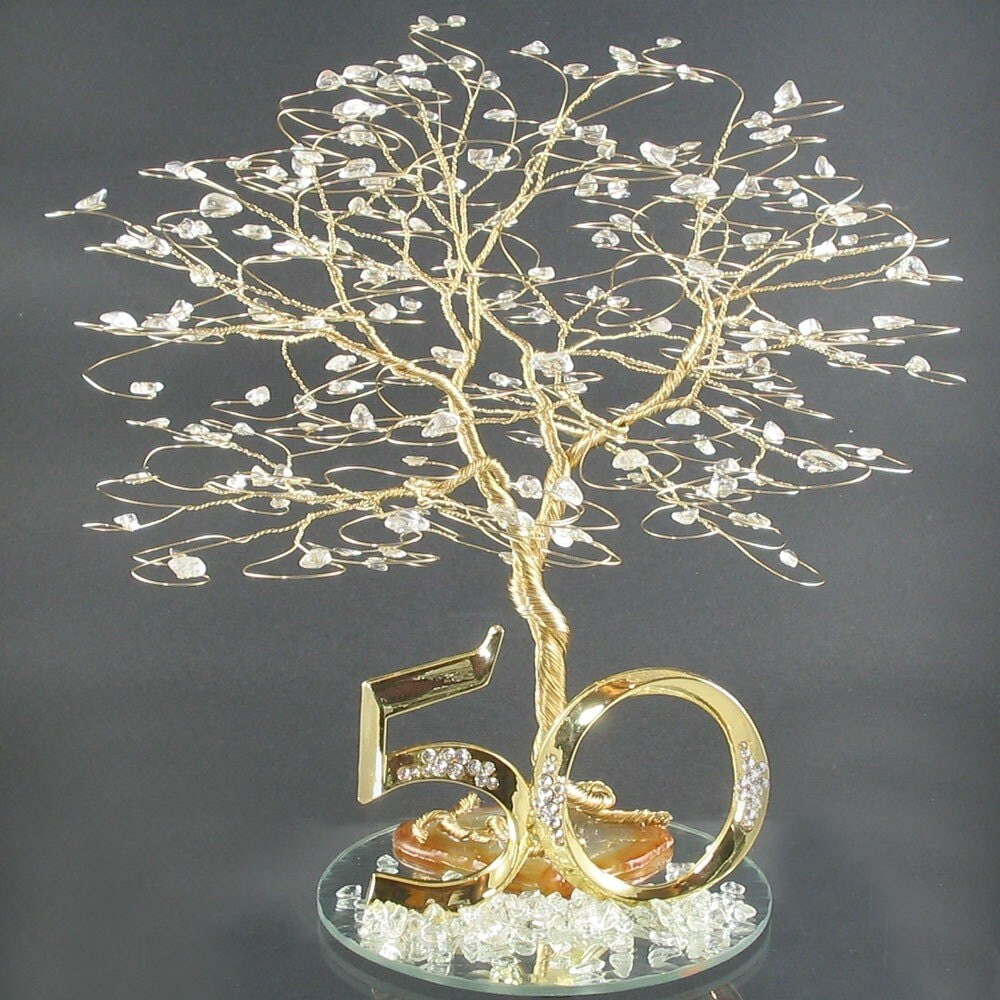 50th Wedding Anniversary Party Ideas: 50th Anniversary Cake Topper Or Centerpiece