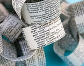 Paper Chain from Vintage Dictionary Pages, Buy by the Yard