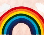 Rainbow Felt Playset, Nine (9) Pieces in the Set