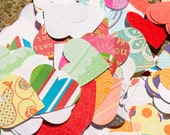 """100 Scrapbook Paper Hearts, Hand-Punched at 1.275"""""""