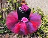 Berry Sweet - Valentine's Day Tutu - Sewn 8'' Tutu in Reds, Pinks, and Purples - sizes newborn up to 5T