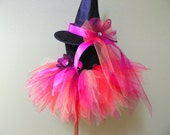 Tutu Witch Costume for Halloween - Amber, the Harvest Witch - Custom Sewn Tutu & Witch Hat - sizes up to 5T - perfect for Halloween