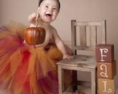 "Fall Tutu Set for Baby, Toddler, Girls - Birthday Tutu Skirt - Autumn Glow - Custom Sewn 12"" Tutu - sizes Newborn to 5T - Thanksgiving Tutu"