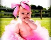 Pink Baby Tutu - Hot Pink Tutu - Sewn Infant Tutu - Ready To Ship - sizes newborn up to 12 months - Photo Prop