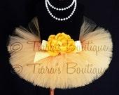 "Baby Tutu - Yellow Tutu - Infant 6"" Tutu Sewn - Ready To Ship - newborn to 12 months - Photography Photo Props"