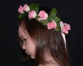 Floral Fairy Crown, Flower Girl Head Wreath, Made to Match Your Tutu