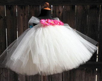 """Custom Sewn Tutu Dress - Sugar Cookies - up to 20"""" long - sizes newborn up to 24 months - Perfect for photo shoots, birthdays, weddings"""