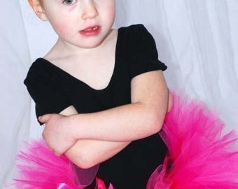 "Pink Tutu - Custom Sewn Tutu - Passion for Pink Tutu - 6"" Tutu - sizes newborn up to 24 months"