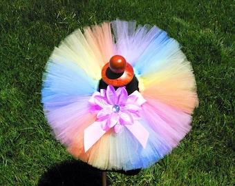 Baby Tutu - Pastel Rainbow Tutu - Birthday Tutu - Spring Delight - Infant Toddler Tutu - sizes 0-3 mo to 24 months