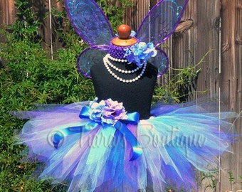 Rayla Pixie - Custom Pixie Wings and 11'' SEWN Pixie Tutu - size Newborn up to 5T