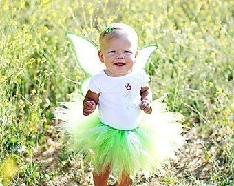 """Custom Sewn 8"""" Infant or Toddler Pixie Tutu - DESIGN YOUR OWN - sizes Newborn up to 12 months - tutu only"""