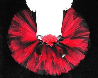 Ladybug Tutu Birthday - I Wanna Rock - Custom Sewn 6'' Tutu - sizes NB to 12 months
