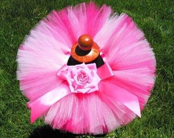 "Pink Tutu, Baby Tutu, Toddler Tutu, Strawberry Dreams, 6"" Tutu, sizes newborn to 12 months, Photo Prop Tutu, Flower Girl Tutu, Birthday Tutu"