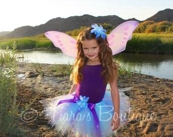 Purple Blue Tutu - Blue Fairy - Custom Sewn 11'' Pixie Tutu - Halloween Tutu - TUTU ONLY - Girls sizes 6 to 8