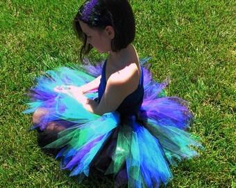 """Design Your Own Tutu - Girls Birthday Tutu - Custom 13"""" Sewn Pixie Tutu - Halloween Tutu - available in girls sizes 6 to 8"""