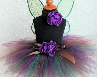 Woodland Beauty - Custom Sewn Tutu - 11'' pixie tutu - MADE-TO-ORDER - sizes newborn up to 5T - tutu only