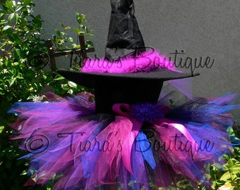 Tutu Witch Costume for Halloween - Punkerella, the Spunky Witch - Custom Sewn Tutu & Witch Hat - sizes up to 5T - perfect for Halloween